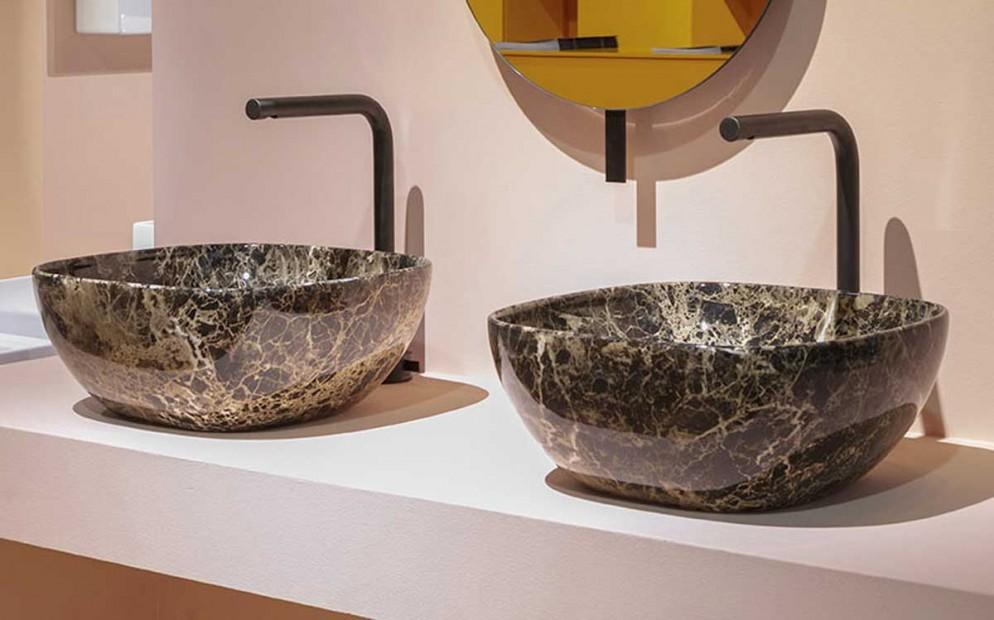 Ceramica Globo T-Edge finitura Le Pietre Portoro Marrone