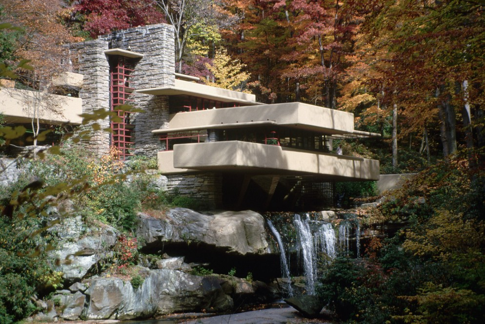 Exterior-of-Fallingwater-by-Frank-Lloyd-Wright-(Photo-by-©-Richard-A.-Cooke_CORBIS_Corbis-via-Getty-Images