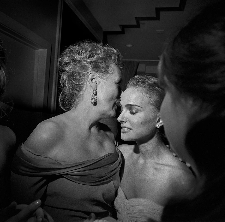Larry Fink Unbridled Curiosity, Meryl Streep and Natalie Portman Oscar Party, Los Angeles, California February 2009
