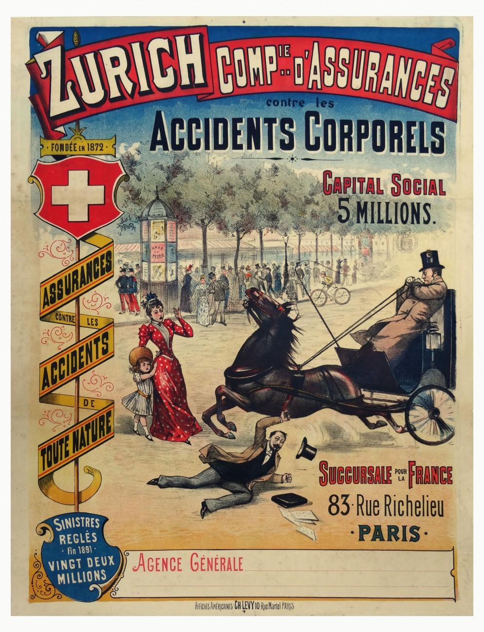 Manifesto della compagnia svizzera Zurich