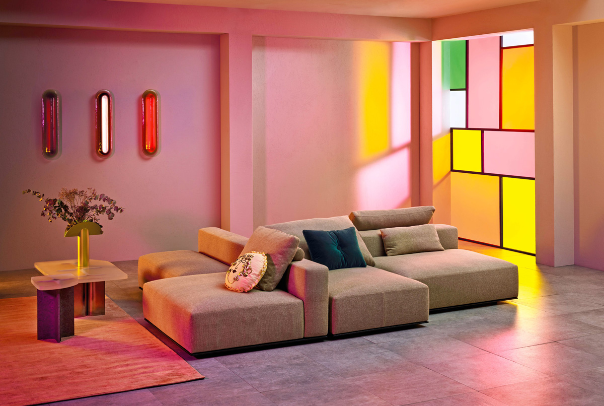 Colore pareti 2019: rosa, arancio, viola e azzurro