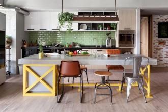 Cucina vintage colorate