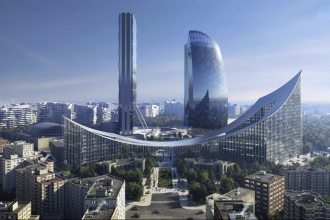 Foto courtesy CityLife / Bjarke Ingels Group