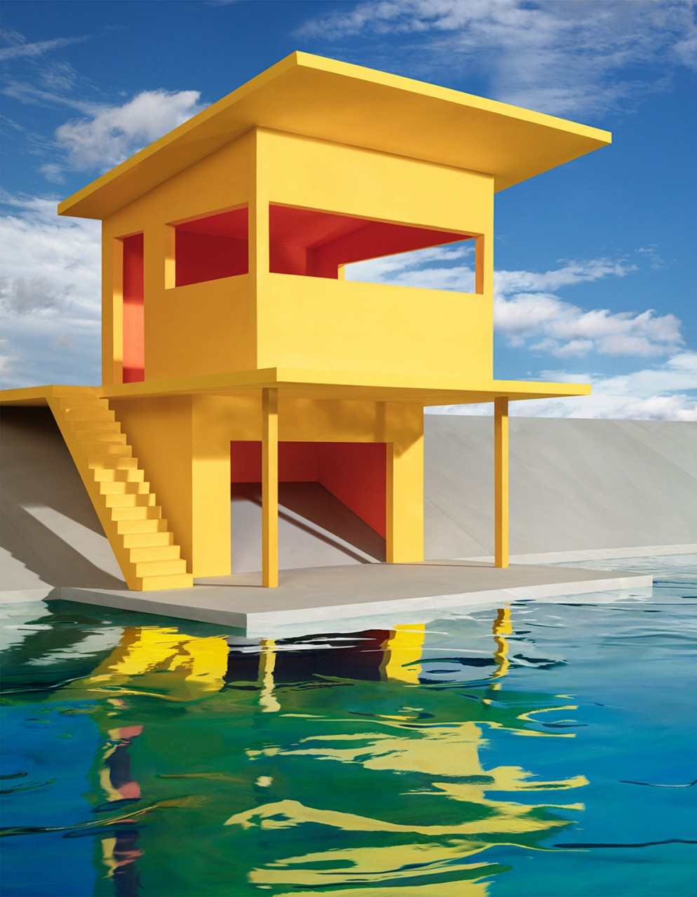 CASEBERE_Bright-Yellow-House-on-Water_2018_Copyright-of-the-artist_Courtesy-Galerie-Templon-Paris-Brussels