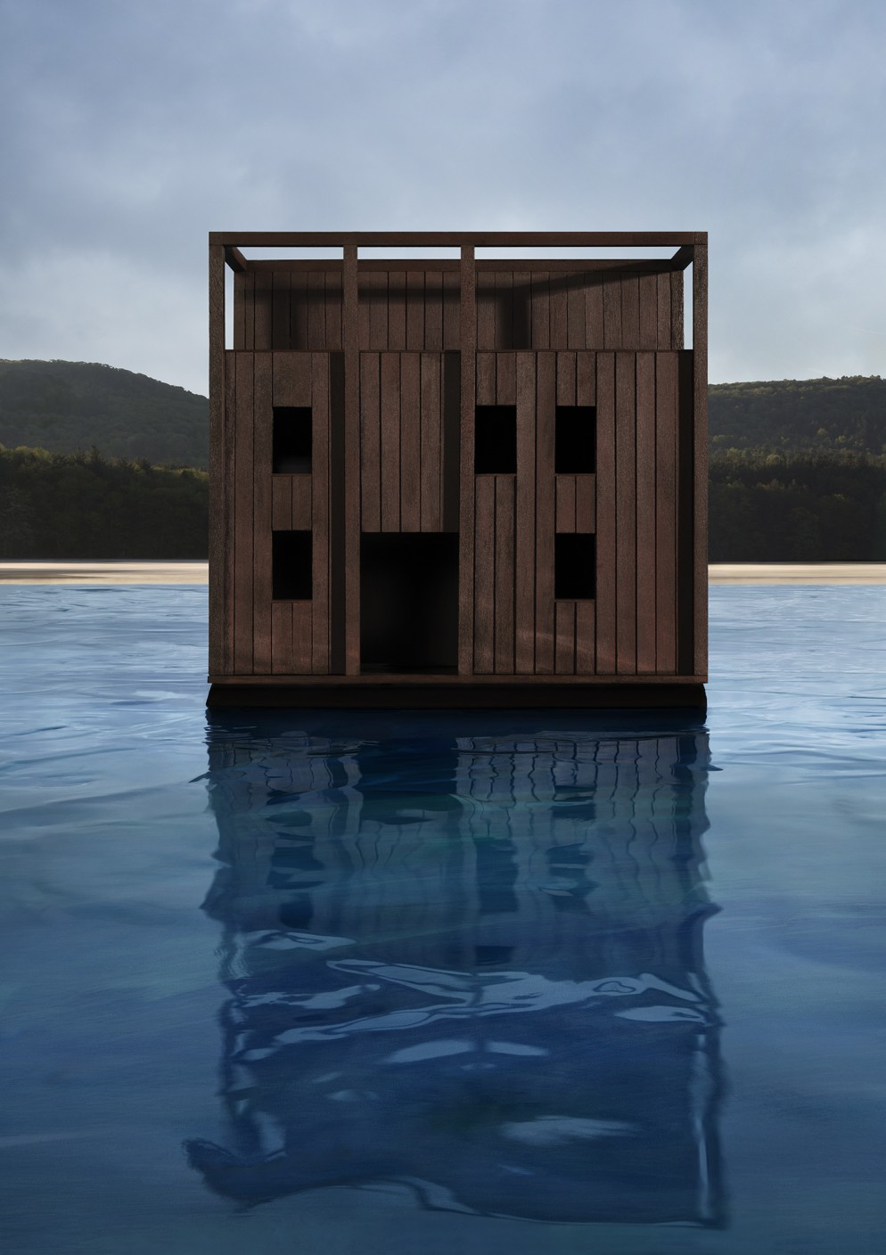CASEBERE_Dark Cube on Water_2019_Copyright of the artist_Courtesy Galerie Templon Paris Brussels