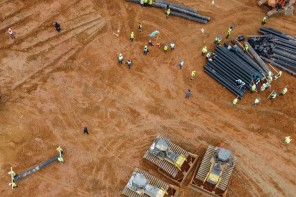 Il live della costruzione dell'ospedale a Wuhan