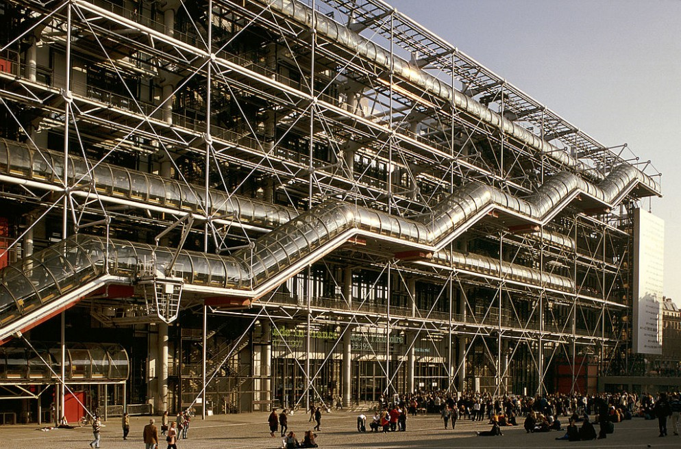 The Georges Pompidou Center In Paris, France -