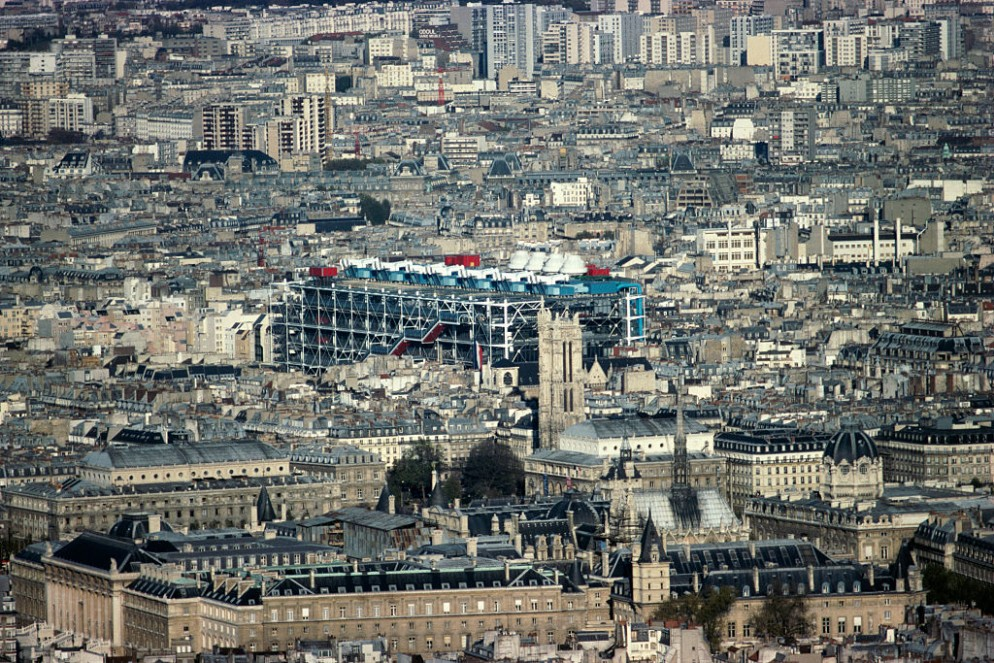 Aerial View of the Centre Georges Pompidou