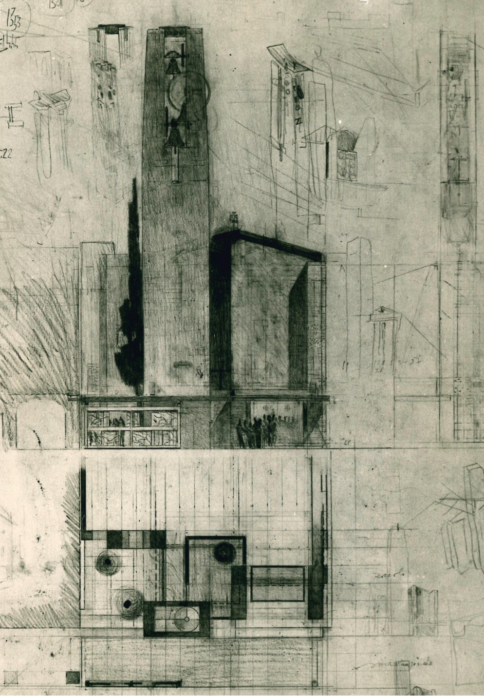 chiesa-carlo-scarpa-firenzuola- 16_Disegno_┬®ASFi