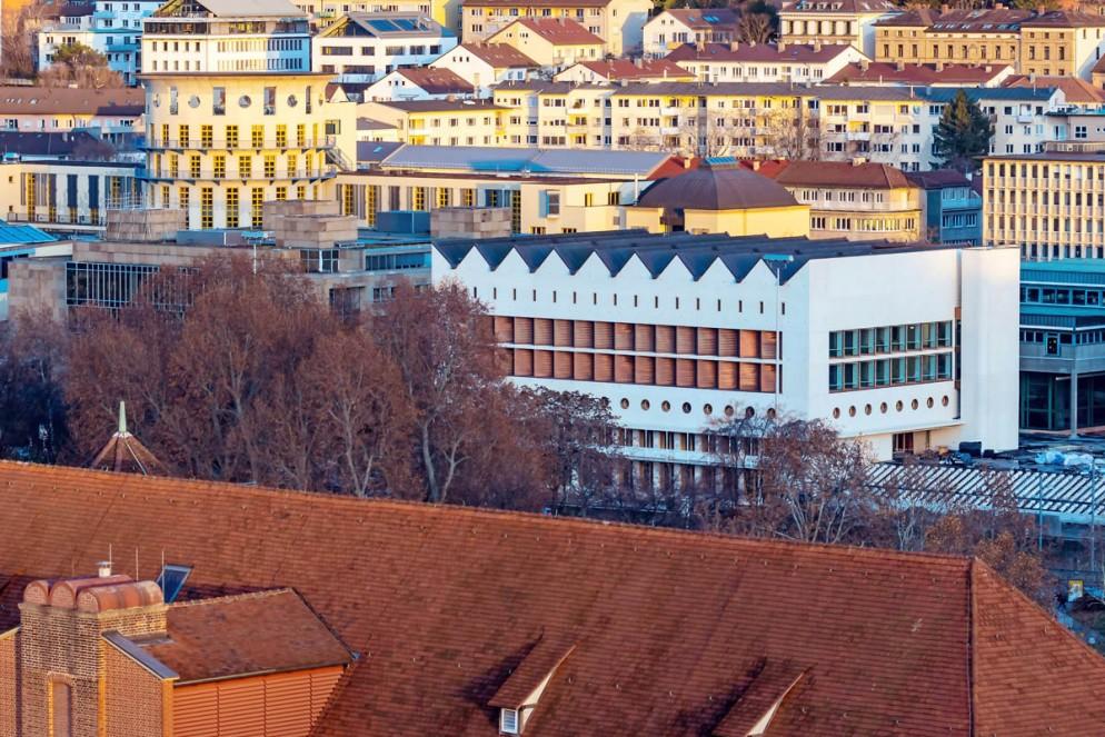 """DEU, Deutschland, Baden-W¸rttemberg, Stuttgart, 14.12.2019 - Erweiterungsgeb‰ude der W¸rttembergischen LandesbibliothekTE"""""""