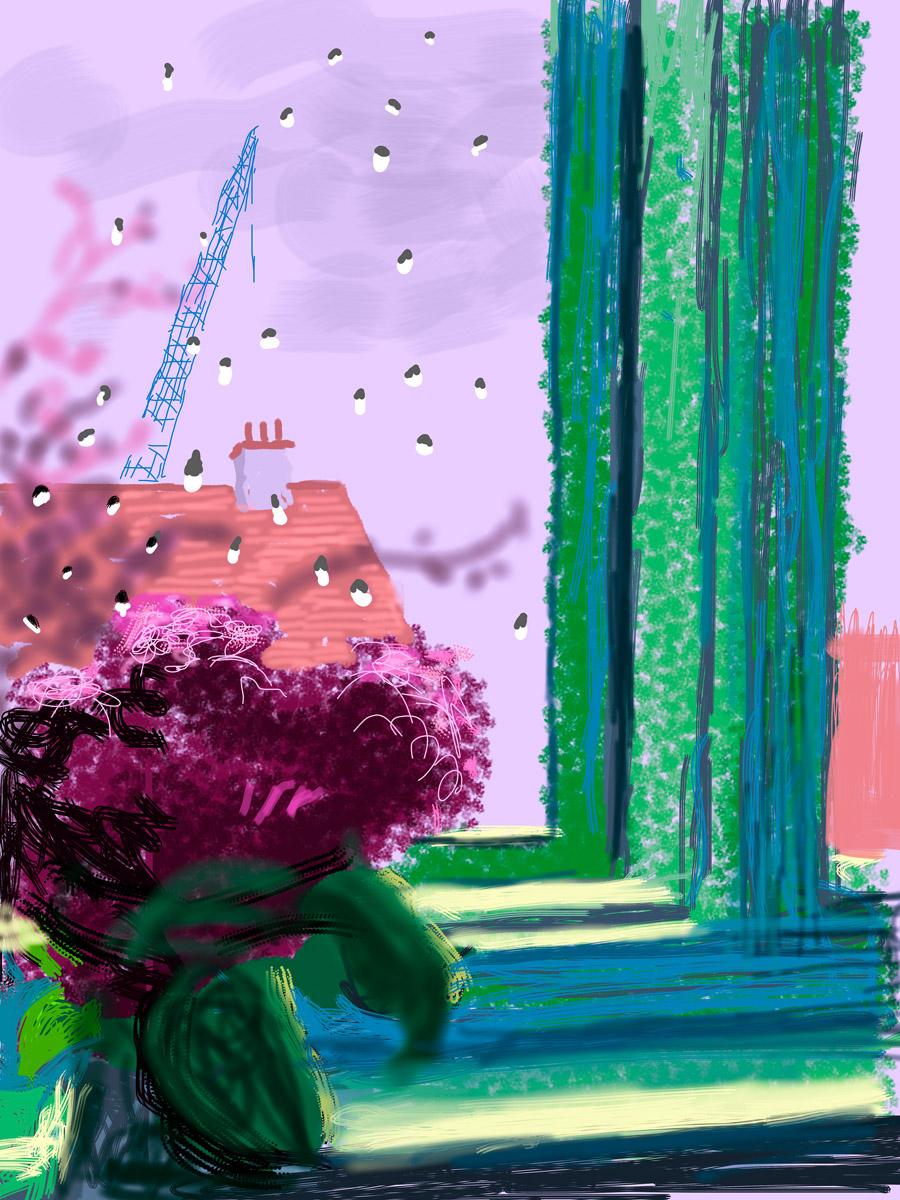 """""""Untitled, 104"""" 2010iPad Drawing © David Hockney"""