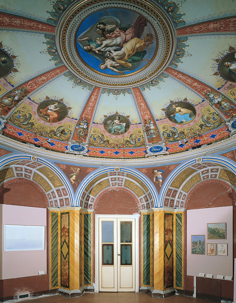 Palazzo Pianetti: decoration of a room, by Bandinelli Olimpio, 19th Century, 1859, fresco and stucco,
