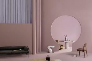 Pareti rosa cipria, total look di primavera