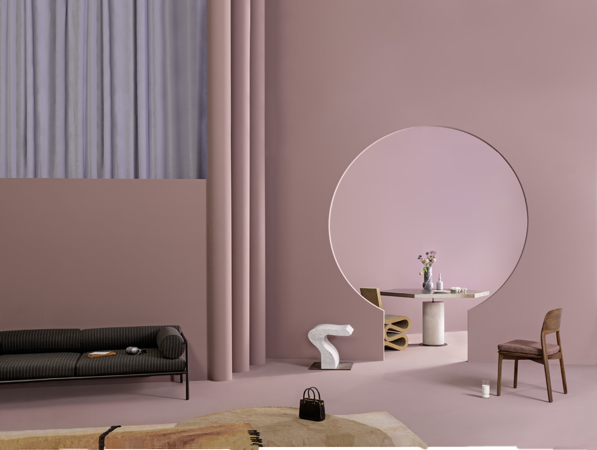 Colore alle pareti: rosa cipria - Foto
