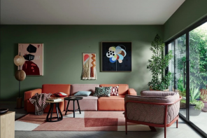 Pareti verdi in soggiorno: le palette da provare