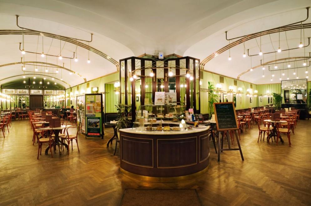 Austria, Vienna, Cafe Museum von Adolf Loos 1899, Rekonstruktion 2003