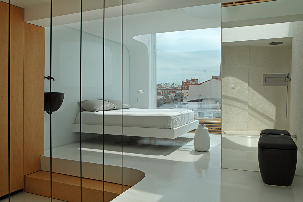 camera da letto moderna piccola