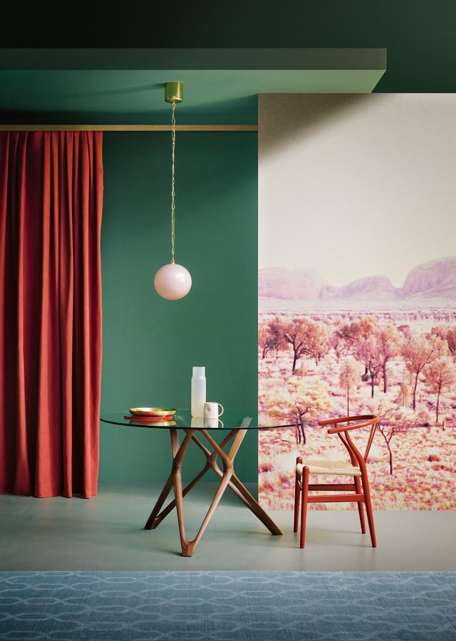 parete-verde-soggiorno-10. foto Peppe Brancato