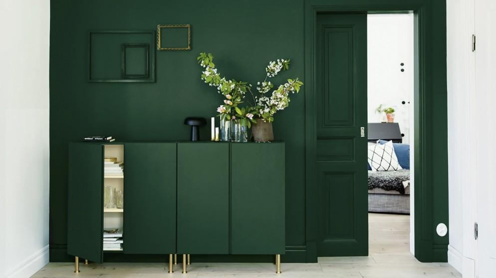 parete-verde-soggiorno-5. via dulux