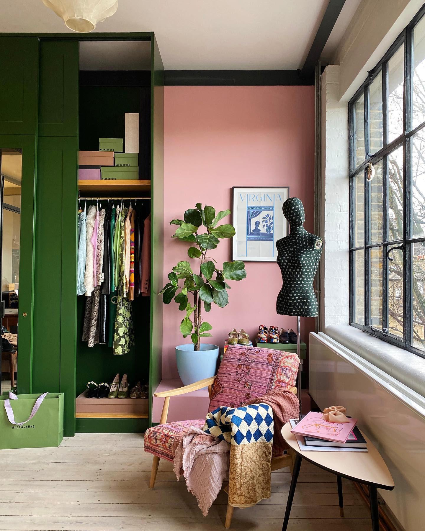 الجدران الخضراء غرفة المعيشة: لوحات parete-verde-soggior