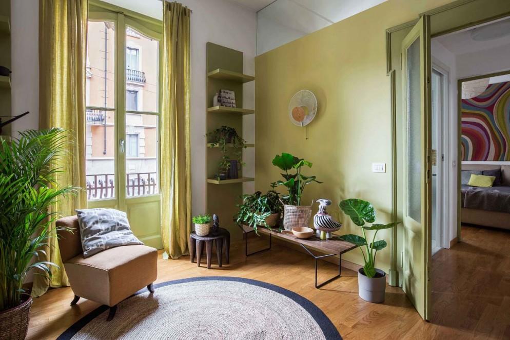 parete-verde-soggiorno-8. Ph. Foto Isabella Magnani - Styling Irene Baratto