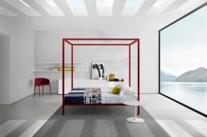 La via moderna del letto a baldacchino