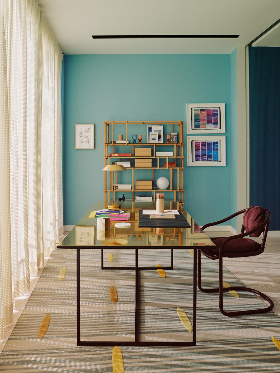 04-colore-azzurro-pareti-abbinamenti-attico-modernista-TVC-Waldo-Works-Office_07-livingcorriere