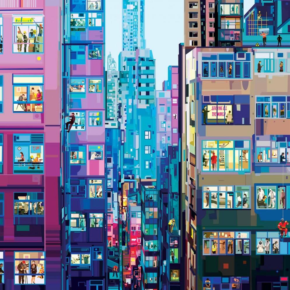 HONG KONG WORKS (110X100cm)