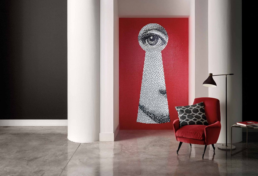 Bisazza Mosaico Collection_pattern SERRATURA_design Fornasetti_ph. Matteo Imbriani 01
