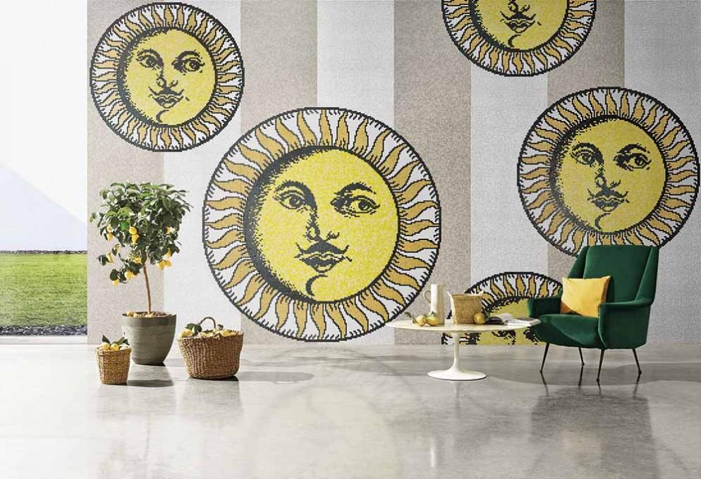 Bisazza Mosaico Collection_pattern SOLI A CAPRI GREY_design Fornasetti_ph. Matteo Imbriani
