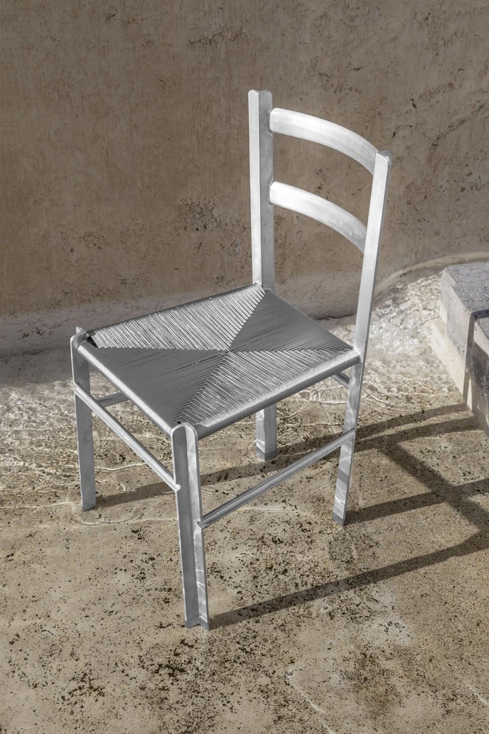 Francesco Faccin - Anonimo Contemporaneo - Aluminum Chair - Esterna -2LR-PhOmarGolli