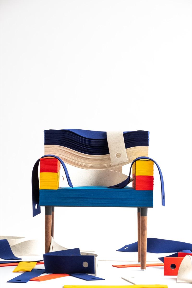 STACKLAB Felt Chair – Jeff Forrest 2