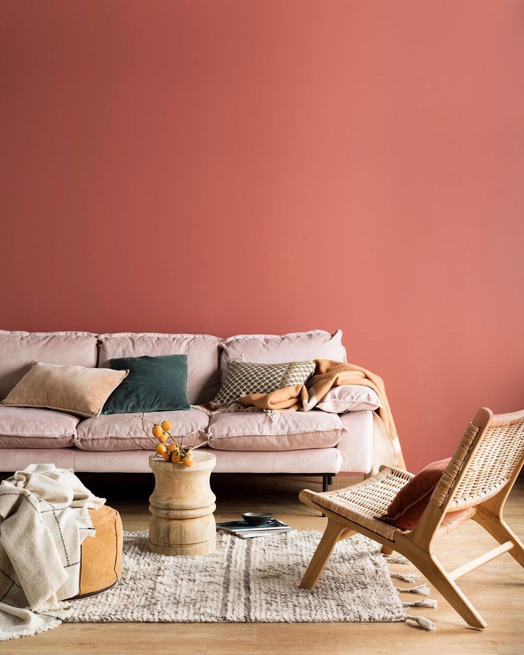 Color corallo, abbinamenti per le pareti - Foto