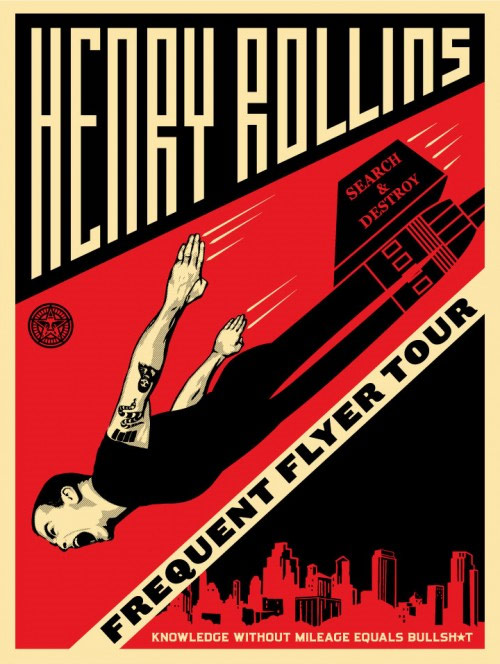 3. Henry Rollins Frequent Flyer Tour