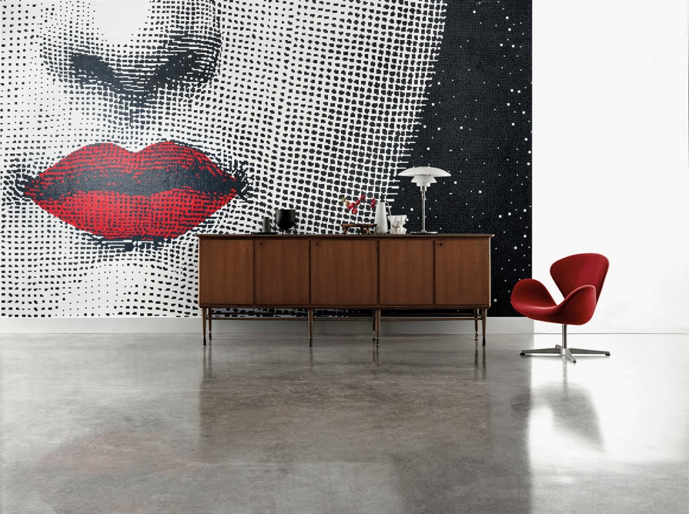 Bisazza Mosaico Collection_pattern BOCCA_design Fornasetti_ph. Matteo Imbriani