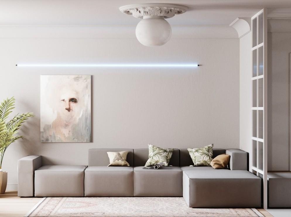 salotto moderno neon