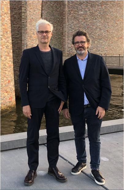 Sebastian Behmann e Olafur Eliasson. Foto: Studio Olafur Eliasson