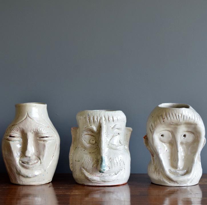 05 ADN Galerie _ Set of 3 unique ceramic pieces from 1930s Surrealism by Architect Manuel Parra