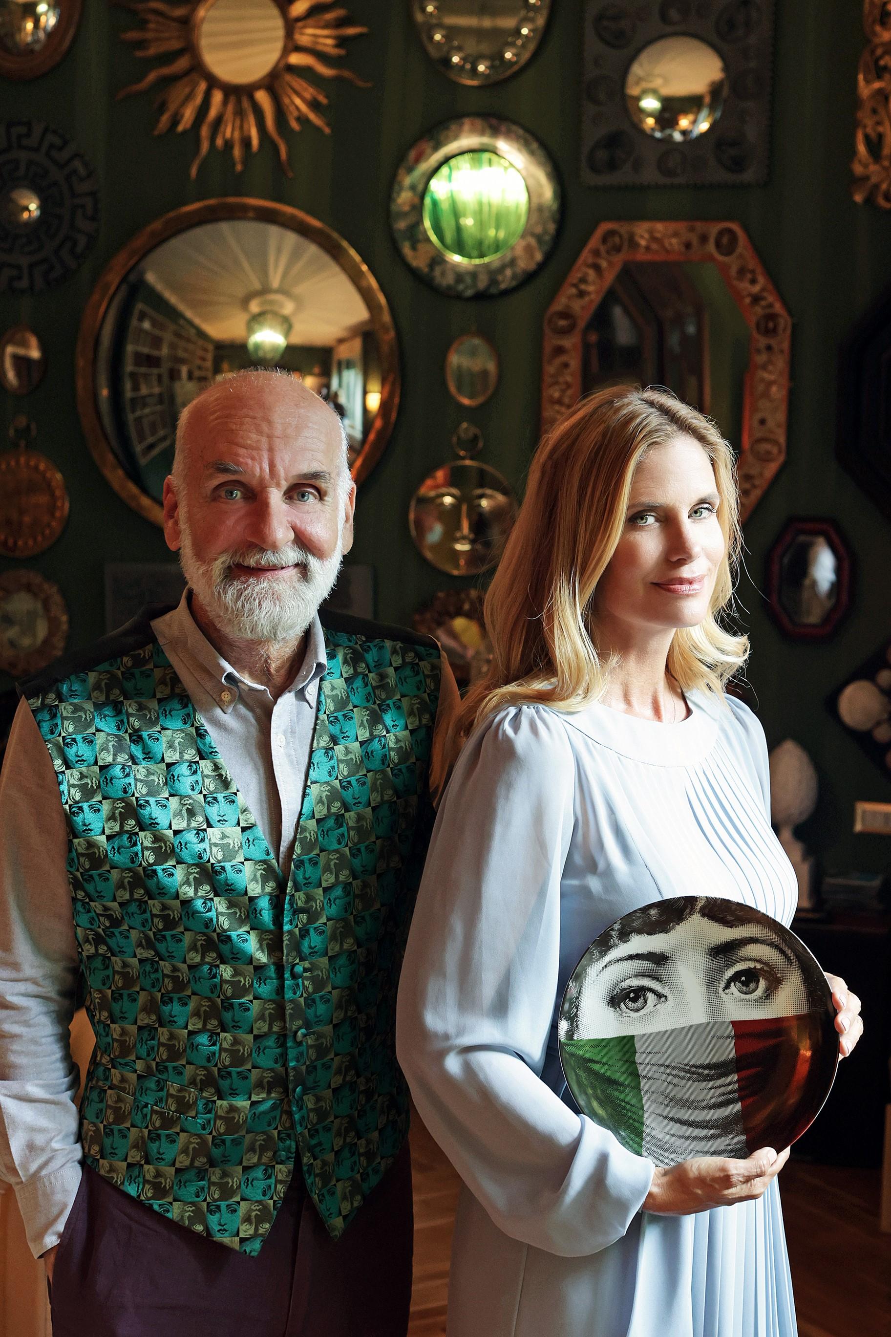 Barnaba Fornasetti e Filippa Lagerback_photo credit Settimio Benedusi