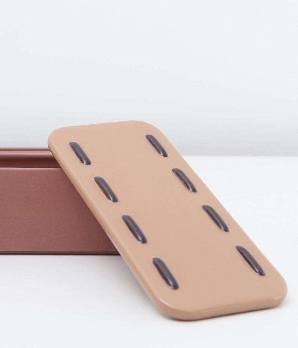 Boîte rectangulaire Automne  - Collection Intérieur aux Aubergines par Cristina Celestino pour Maison Matisse © Fabrice Gousset 2