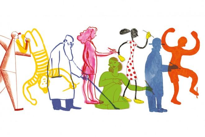 Illustrazione di Guido Scarabottolo per Fabriano Festival del Disegno 2020