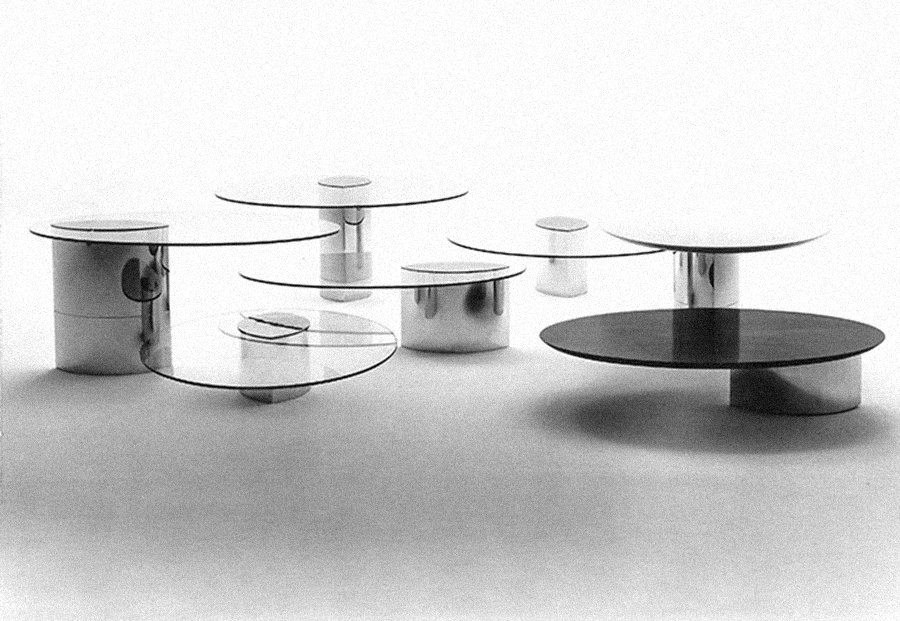 Lunario Tables by Cini Boeri for Arteluce (1970)
