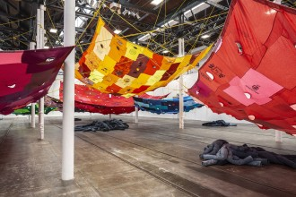 Pia-Camila,-Divisor-Pirata-Amarillo,-2017.-Exhibition-view-of-the-show-Bara-bara-bara,-2019,-Tramway,-Glasgow-a