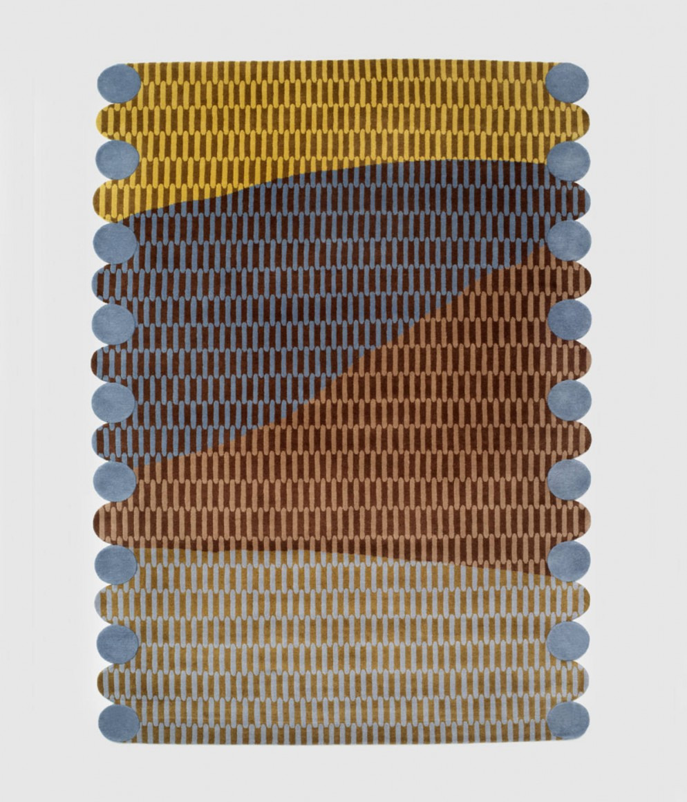 Tapis Paysage au soleil - Collection Intérieur aux Aubergines par Cristina Celestino pour Maison Matisse © Fabrice Gousset