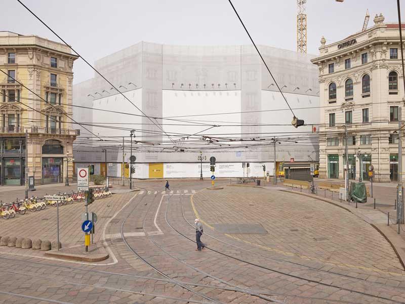 archivi aperti Giovanni Hanninen, MilanoCovid-Cordusio aprile 2020 ©hanninen