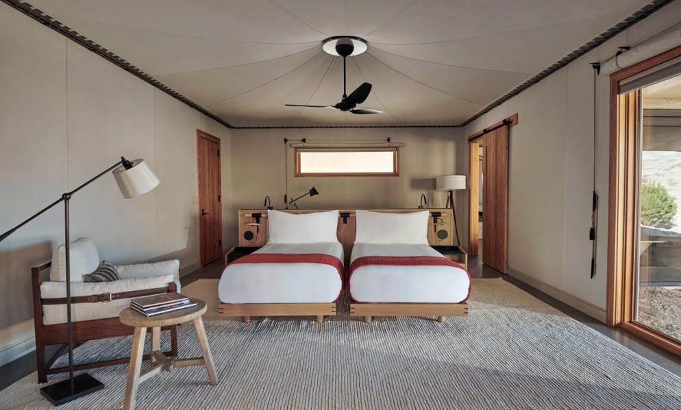 Amangiri, USA - Camp Sarika Tent 10 Twin Bedroom