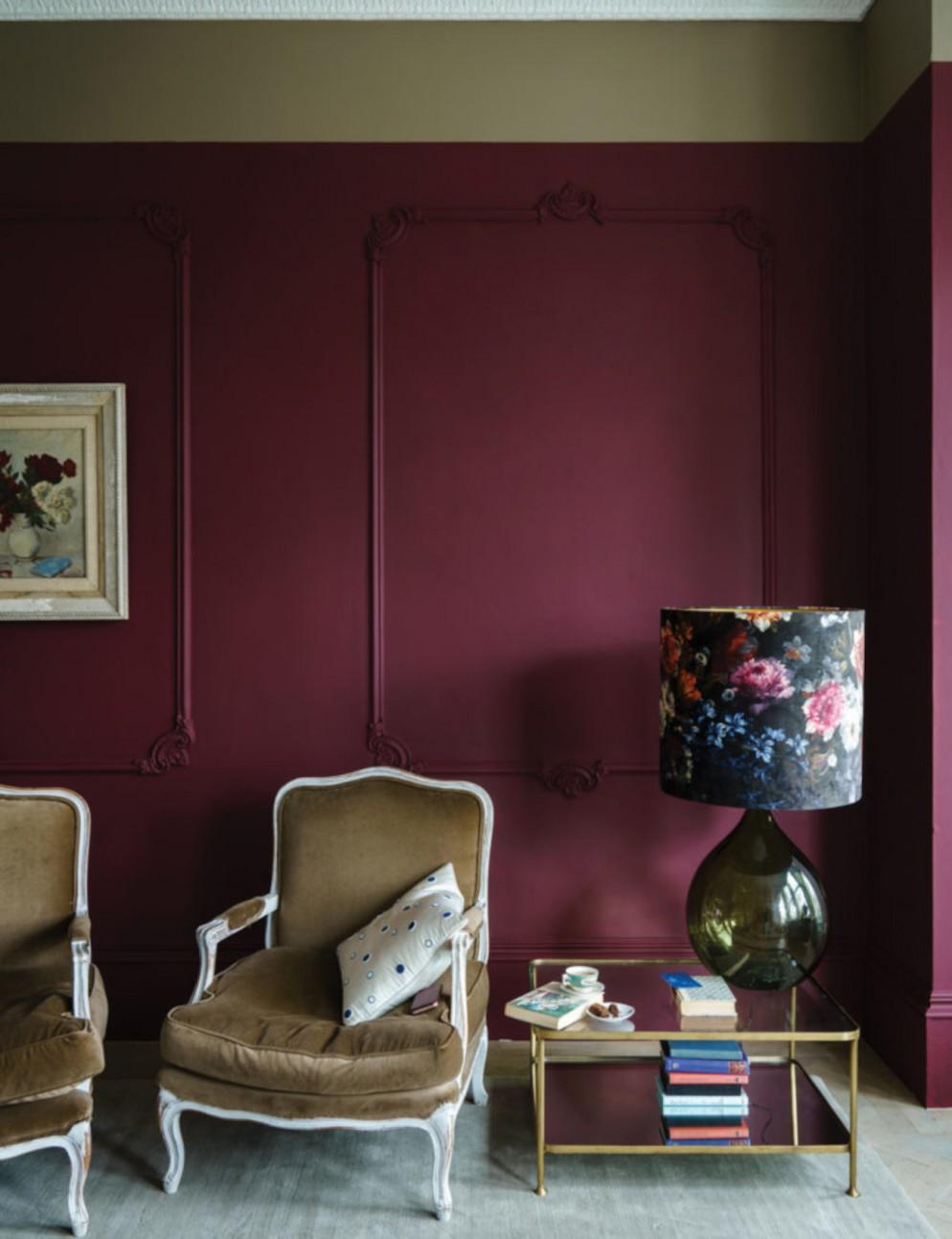 color-bordeaux-pareti-abbinamenti-4. Farrow and Ball
