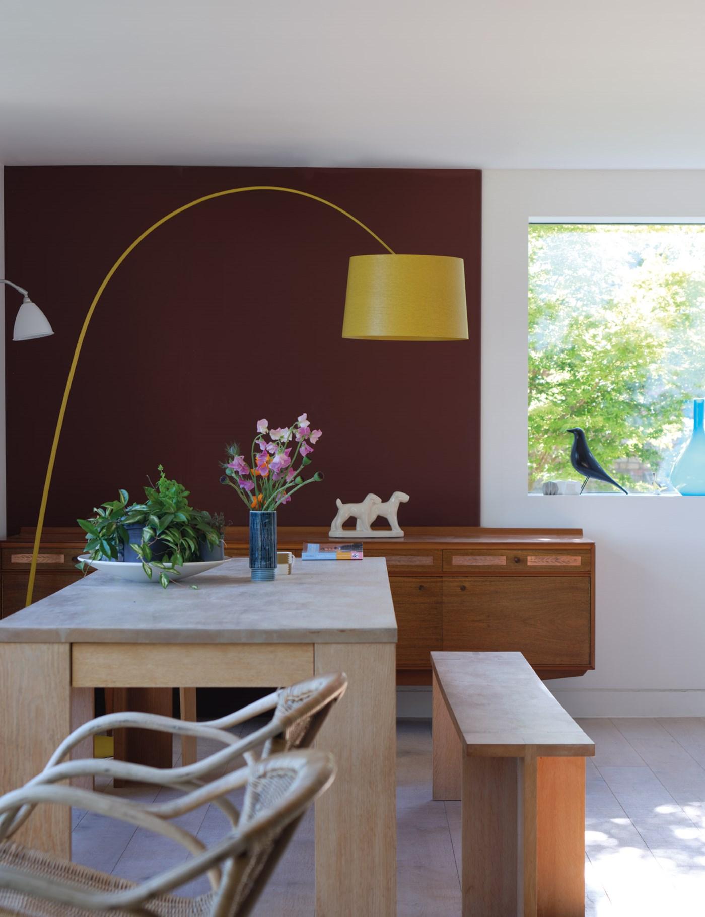 Color bordeaux, abbinamenti per le pareti - Foto