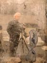 """Mario Cresci Autoritratto #01, Bergamo 2010 Dalla serie """"Attraverso la traccia"""" Stampa Giclée Fine Art, 120x90 cm © Mario Cresci"""
