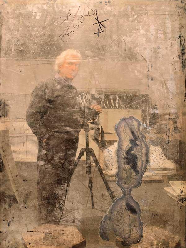 fond modena Mario Cresci, Autoritratto, dalla serie Attraverso la traccia, Bergamo 2010 © Mario Cresci